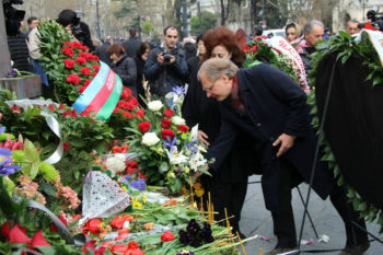 During His Visit To The April 9 Memorial On Rustaveli Boulevard Where He Laid A Wreath Ambassador Norland Said United States Joins All Georgians