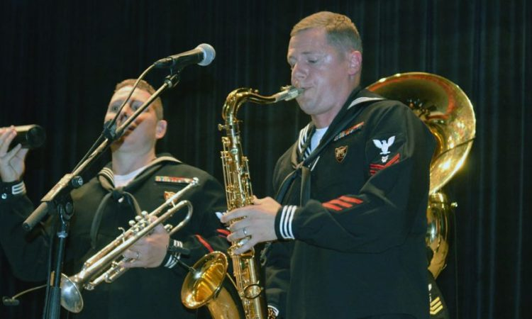 U.S. Naval Forces Europe Band performed a concert at Batumi University. Photo: State Dept