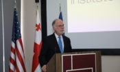 Ambassador Ross Wilson, Chargé d'Affaires, a.i. speaks at the WRAIR 125 Years event