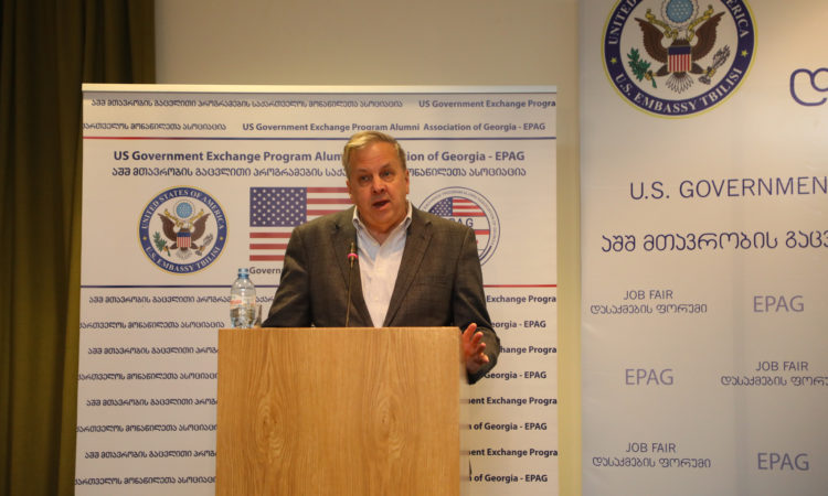 Ambassador Kelly during his Remarks at the EPAG Job Fair. Photo: State Dept
