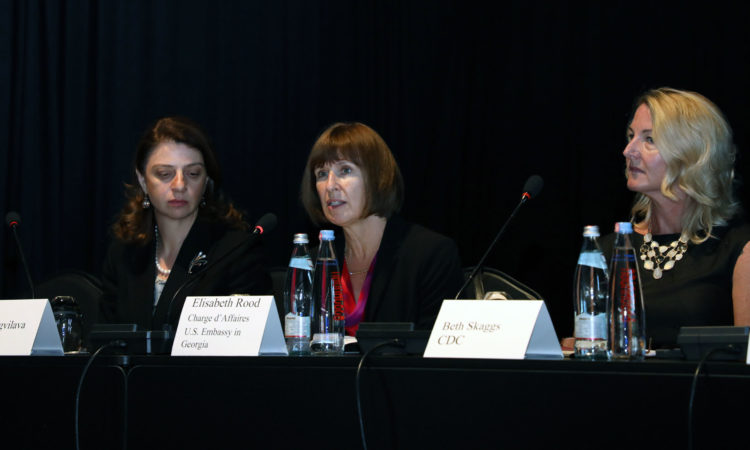 CDA Elizabeth Rood at the National Infection Prevention and Control Stakeholder's Meeting. Photo: State Dept