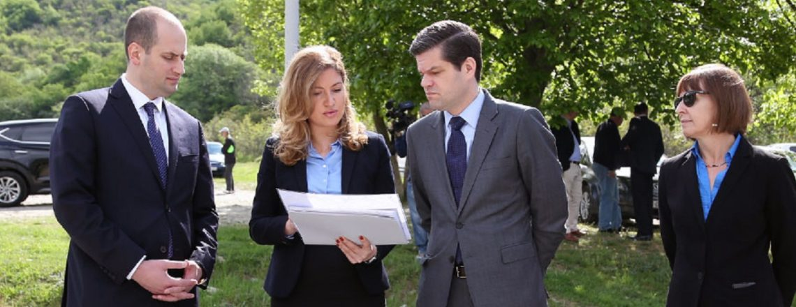 Assistant Secretary A. Wess Mitchell visits administrative boundary line at Odzisi (May 1)