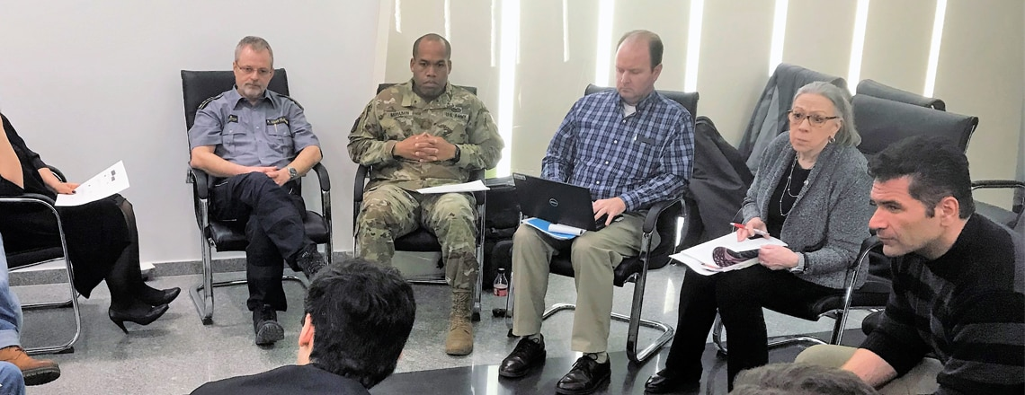 U.S. Emergency preparedness team conducts a workshop with Georgians (February 28)