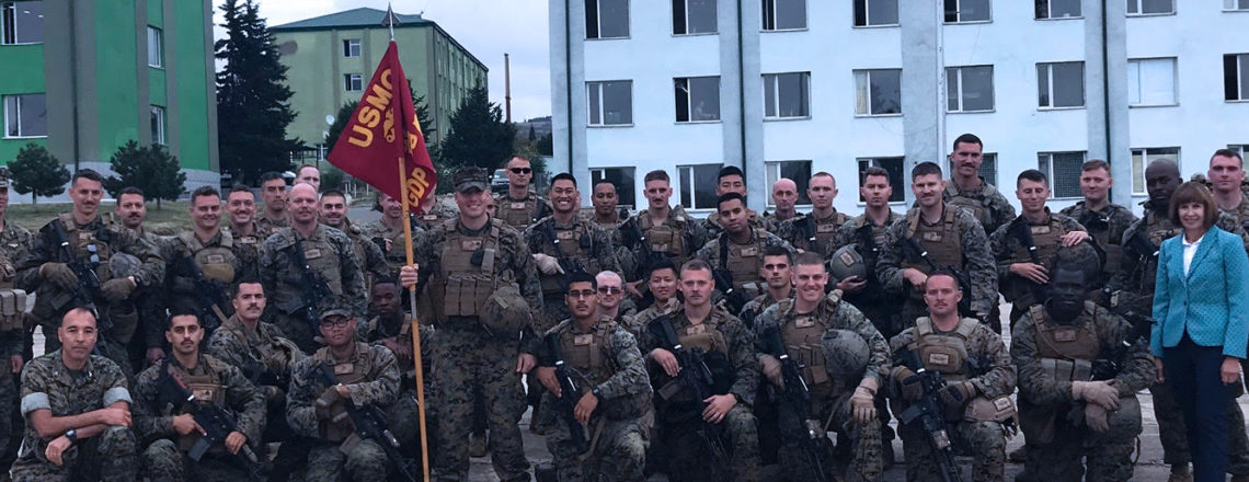 22nd Battalion and the Marines and Sailors of the Georgia Liaison Team prior to their depl